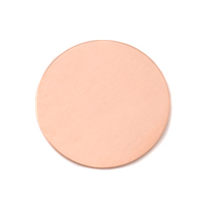 "Metal Stamping Blanks Copper Round, Disc, Circle, 25mm (1""), 24g, Pack of 5"