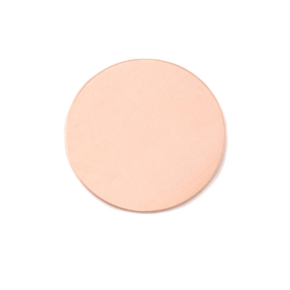"Metal Stamping Blanks Copper Circle, 22mm (.87""), 24g"
