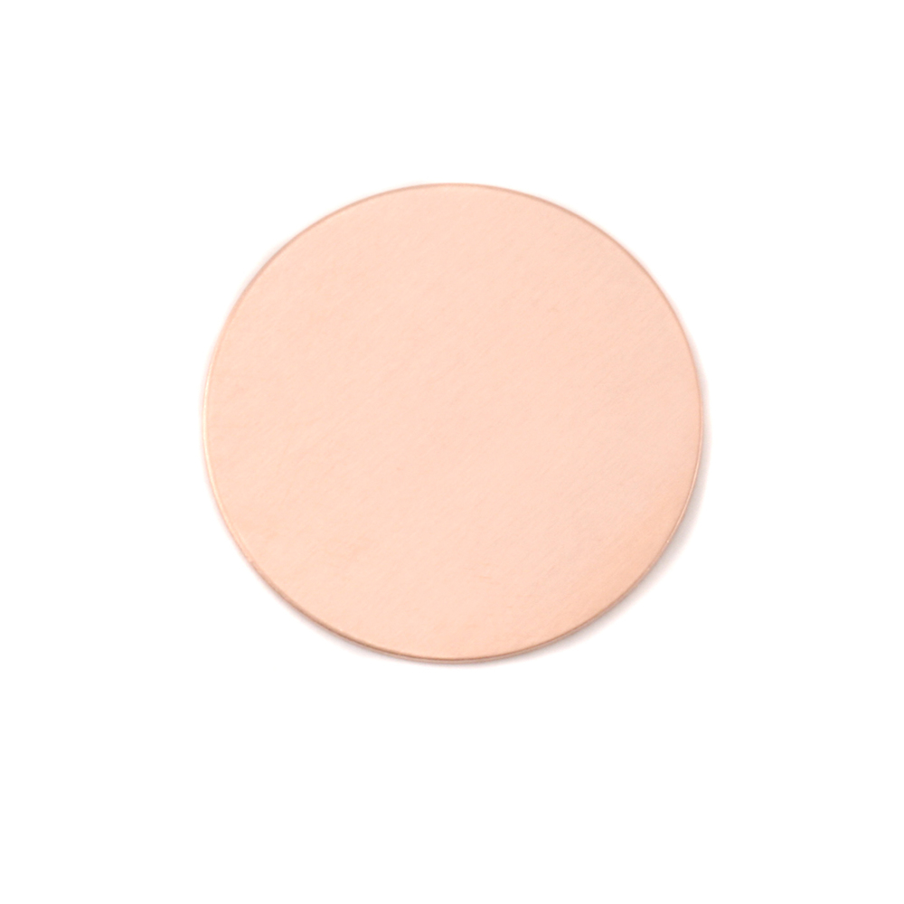 "Metal Stamping Blanks Copper Round, Disc, Circle, 22mm (.87""), 24g, Pack of 5"