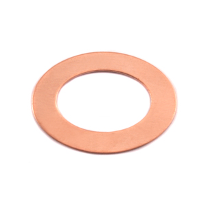 "Metal Stamping Blanks Copper Oval Washer, 27mm (1.06"") x 20mm (.79""), 24g"