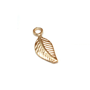 Gold Filled Tiny Leaf Charms