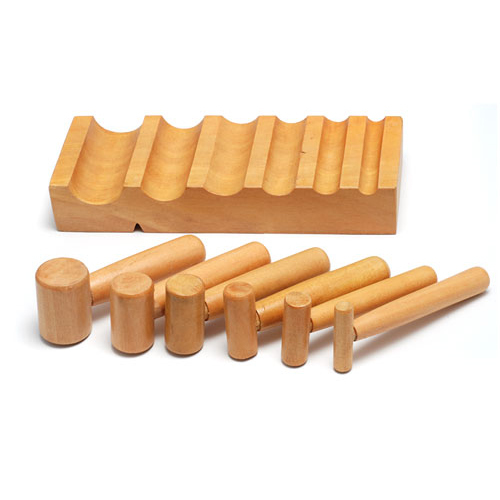 Jewelry Making Tools U Channel Hardwood Block with Hammer Punches