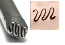 Metal Stamping Tools Large Squiggle Design Stamp