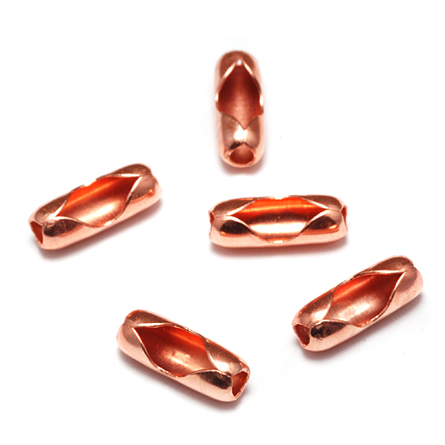 Chain & Clasps Shiny Copper Ball Chain Clasps / Connectors for 1.5-2mm Chain, Pack of 5