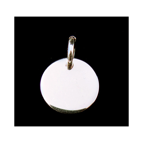 """Metal Stamping Blanks Sterling Silver Circle with Jump Ring, 17mm (.67""""), 16g"""