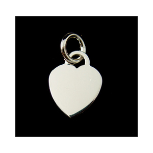 Metal Stamping Blanks Sterling Silver Thick Heart Pendant, 16g