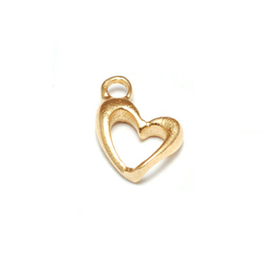 Gold Filled Tiny Open Heart Charms