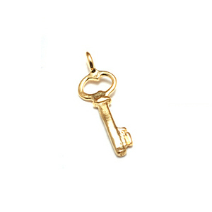 Charms & Solderable Accents Gold Filled Tiny Key Charms