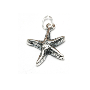 Charms & Solderable Accents Sterling Silver Tiny Starfish Charm
