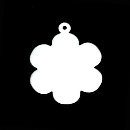 """Metal Stamping Blanks Sterling Silver 1"""" Flower w/Top Loop, 24g"""