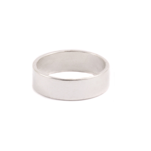 Metal Stamping Blanks Wide Sterling Silver Ring, SIZE 5