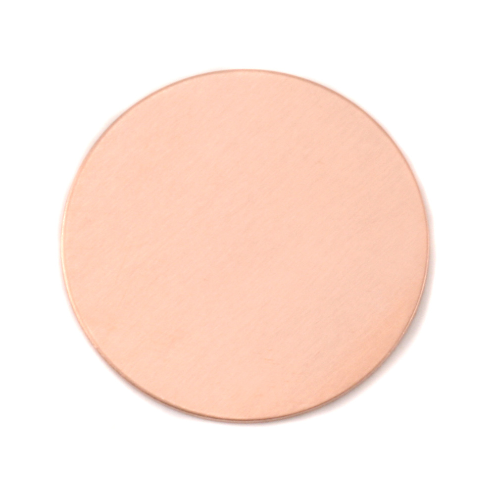 "Metal Stamping Blanks Copper Round, Disc, Circle, 32mm (1.25""), 24g, Pk of 5"