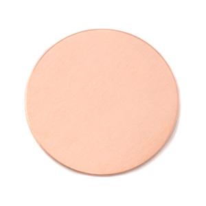 "Metal Stamping Blanks Copper Round, Disc, Circle, 32mm (1.25""), 24 Gauge, Pack of 5"