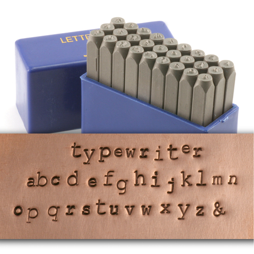 Metal Stamping Tools Typewriter Lowercase Letter Stamp Set (3.2mm - 2.2mm)