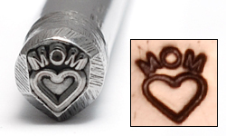Metal Stamping Tools Mom with Heart Design Stamp