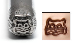 Metal Stamping Tools Cat Face Design Stamp