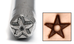Metal Stamping Tools Star with Dot Design Stamp