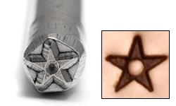 Metal Stamping Tools Star with Dot Design Stamp