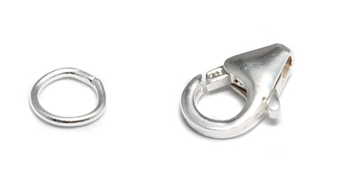 Chain & Clasps Sterling Silver 11mm Lobster Clasp w/ 6mm Soldered Ring