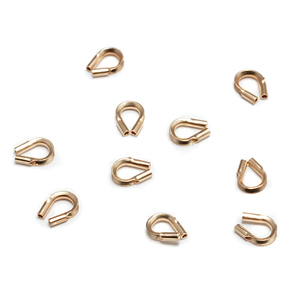 Clasps & Findings Gold Plated Wire Guards, Pack of 10