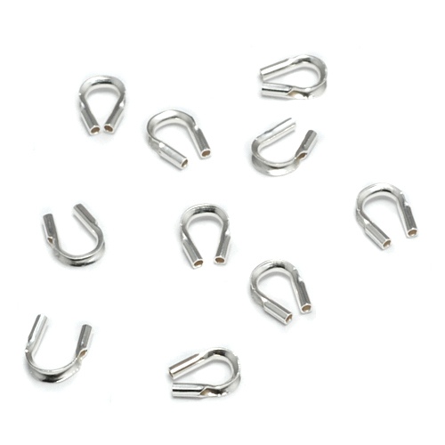 Rivets,  Findings & Stringing Sterling Silver Wire Guards, Pack of 10