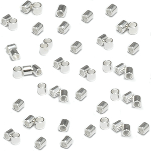 Rivets,  Findings & Stringing Sterling Silver 2x2 Crimp Tubes, Pack of 50