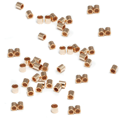 Rivets,  Findings & Stringing Gold Filled 2x2 Crimp Tubes, Pack of 50