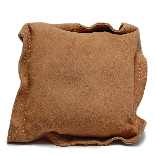 "Jewelry Making Tools Sandbag, Bench Block Pad - 5.5"" Square Leather"