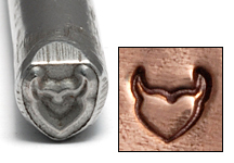 Metal Stamping Tools Heart with Horns Design Stamp