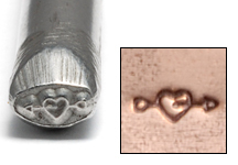 Metal Stamping Tools Heart with Arrow Design Stamp