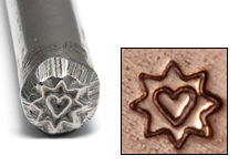Metal Stamping Tools Sunburst with Heart Design Stamp