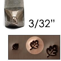 """Metal Stamping Tools Oak Leaf Design Stamp 3/32"""" (2.4mm)"""
