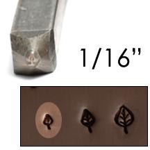 """Metal Stamping Tools Elm Leaf Design Stamp 1/16"""" (1.6mm)"""