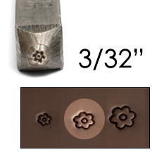 "Metal Stamping Tools Basic Flower Face Design Stamp 3/32"" (2.4mm)"