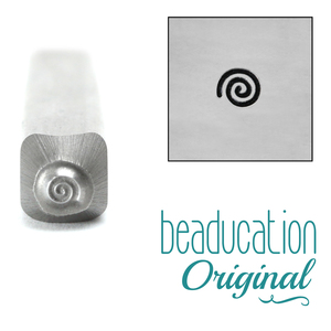 Metal Stamping Tools Teeny Tiny Spiral Metal Design Stamp, 2.5mm - Beaducation Original