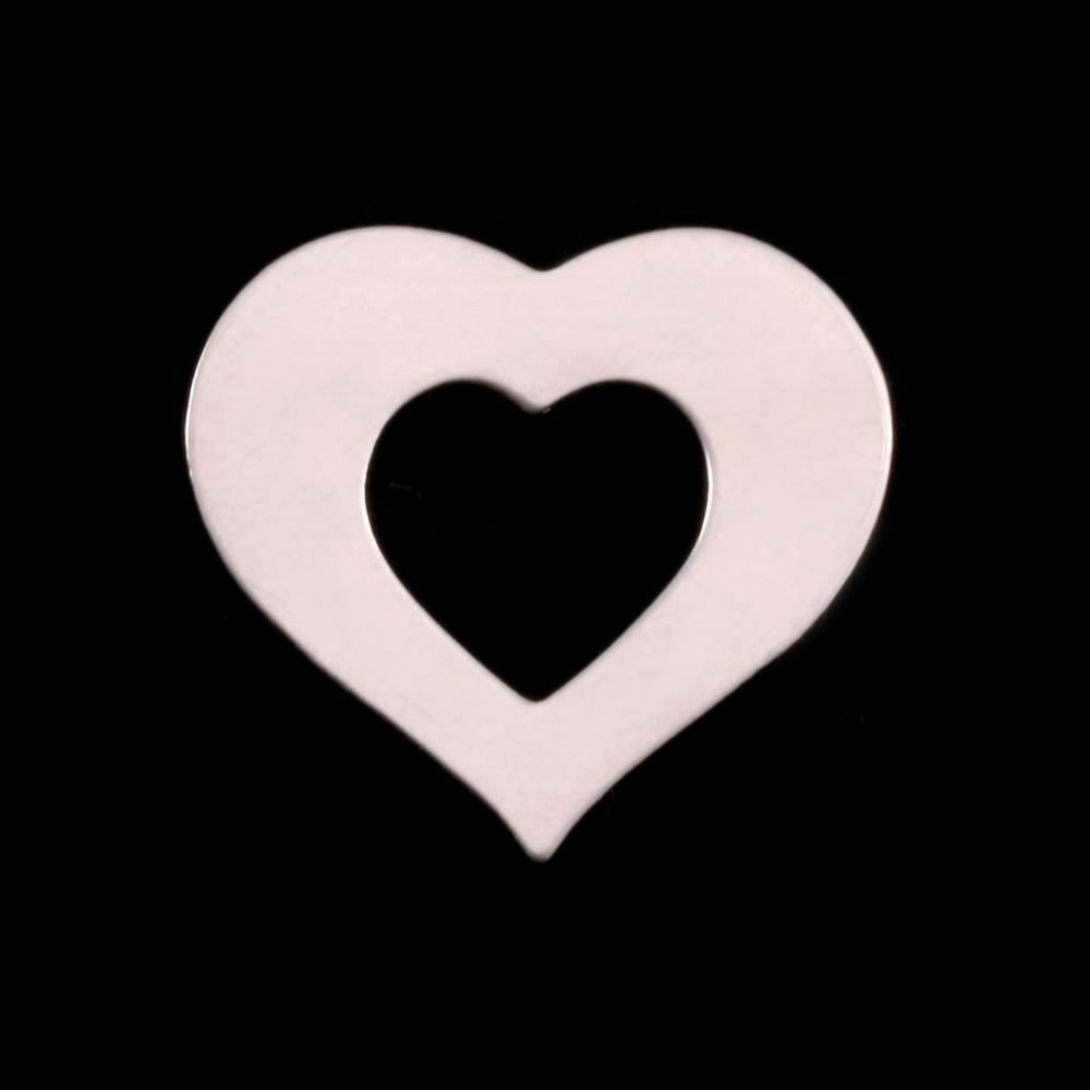 Metal Stamping Blanks Sterling Silver Medium Heart Washer, 24g