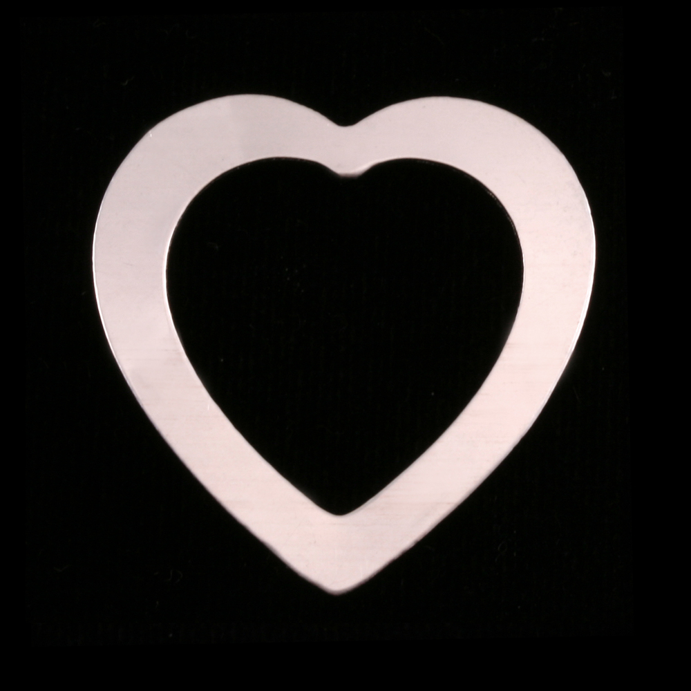Metal Stamping Blanks Sterling Silver Large Heart Washer, 24g