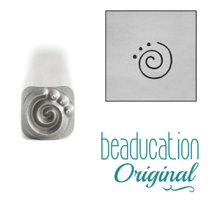 Metal Stamping Tools Spiral 3 Dots Metal Design Stamp, 5mm - Beaducation Original