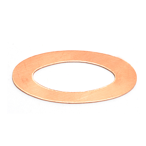 Metal Stamping Blanks Copper Large Oval Washer, 24g