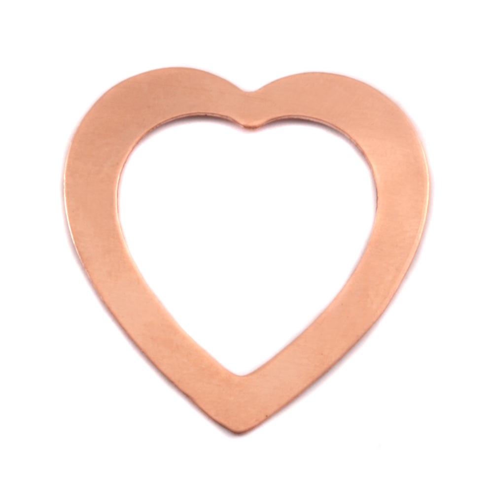 Metal Stamping Blanks Copper Large Heart Washer, 24g