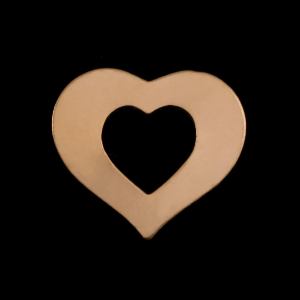 Metal Stamping Blanks Gold Filled Medium Heart Washer, 24g