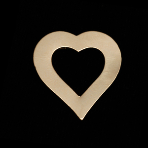 "Metal Stamping Blanks Gold Filled Heart Washer, 21mm (.83"") x 19mm (.75""), 24g"