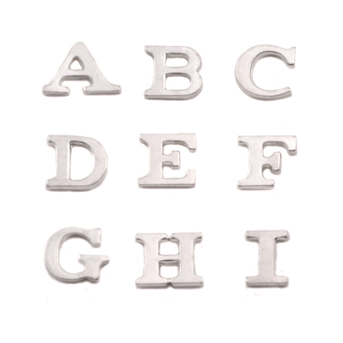 Dregs Sterling Silver Letter F, 19g