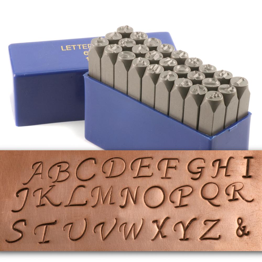 Metal Stamping Tools Fancy Uppercase Letter Stamp Set 1 4 6mm