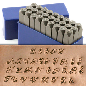 """Metal Stamping Tools Loopy Uppercase Letter Stamp Set 5/32"""" (4mm)"""