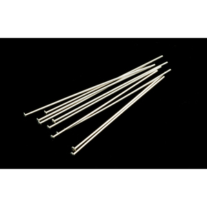 "Rivets,  Findings & Stringing Sterling Silver Head Pins 1 1/2"" (38mm) 24 gauge pack of 10"