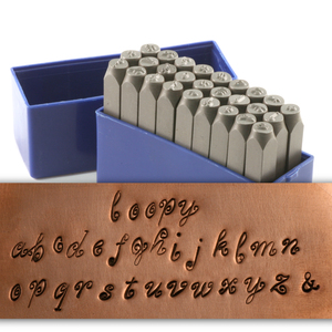 "Metal Stamping Tools Loopy Lowercase Letter Stamp Set 5/32"" (4mm)"