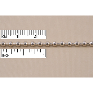 Chain & Jump Rings Sterling Silver Ball Chain 3.2mm, by the Inch