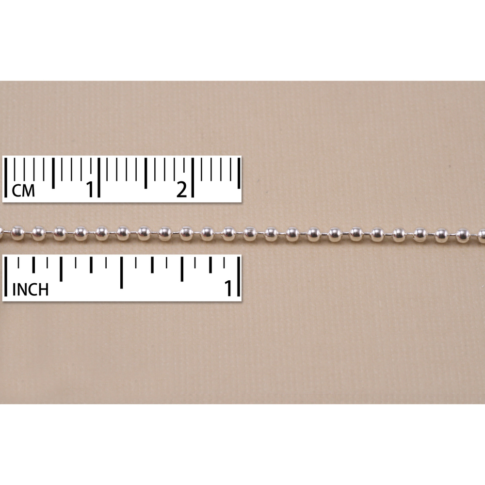 Chain & Clasps Sterling Silver Ball Chain 1.8mm, by the Inch