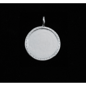 Metal Stamping Blanks Sterling Silver Circle with Textured Edge, Medium